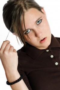 teen girl with an attitude problem