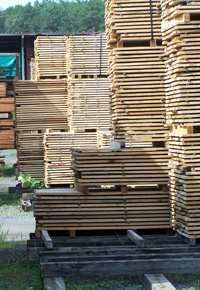air drying lumber