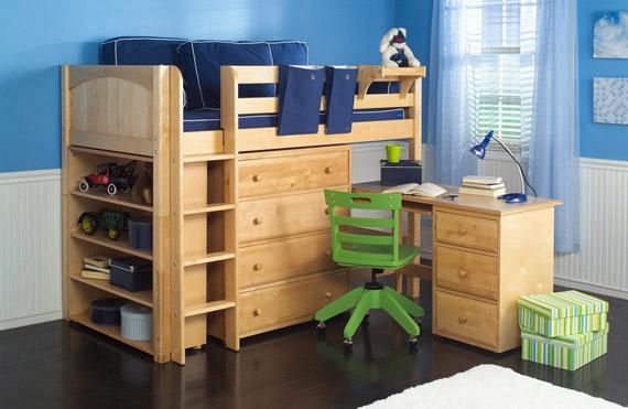 maxtrix mid loft bed with desk