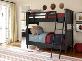 all american black bunk bed
