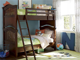 classics 40 cherry bunk bed twin over twin
