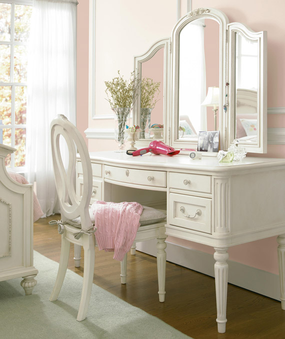 gabriella vanity desk dressing mirror