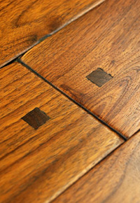 Rehmeyer Old Trail Collection: Rustic Walnut Flooring with Pegs