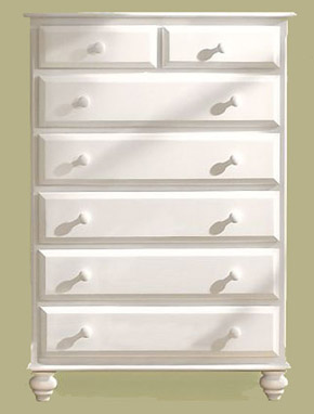 bedroom source collection white chest two over five drawers