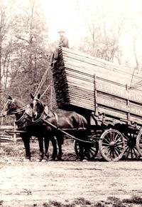 McIlvain horse drawn lumber cart