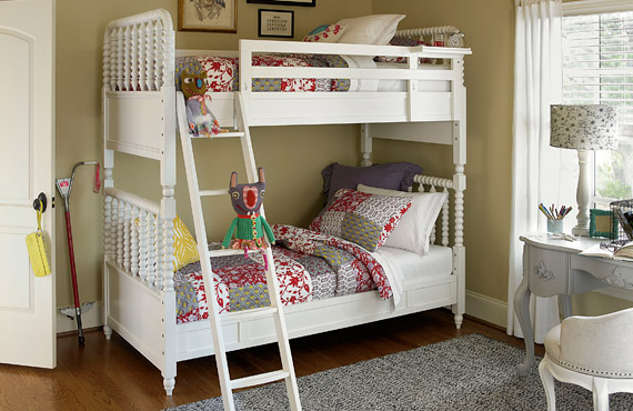 bellamy vintage bunk bed for girls