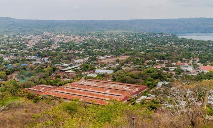 aerial view of masaya nicaragua