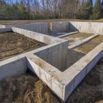 concrete base foundation for building