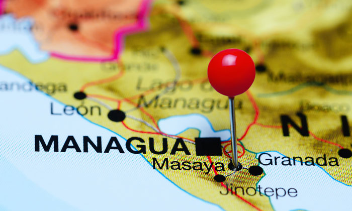 pin on map for masaya nicaragua