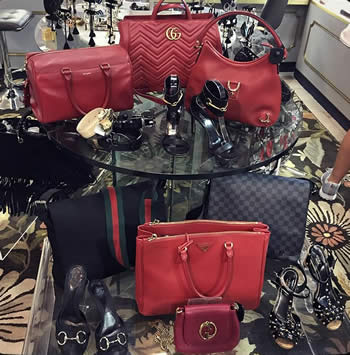 Assortment of gucci bags