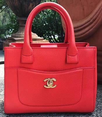 Chanel Neo Executive Mini Tote, Orange in Caviar leather