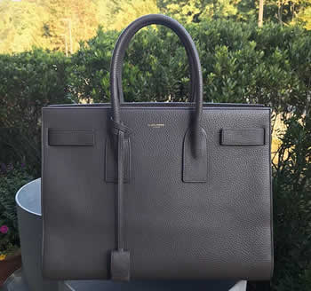 saint laurent sac de jour large in gray