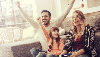video game victory for young family