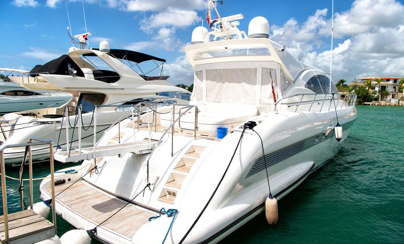 family yacht ready for travels